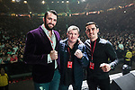 © Joel Goodman - 07973 332324 . No Editorial syndictaion permitted . 09/09/2017. Manchester , UK . Hughie Fury , Ricky Hatton , Anthony Crolla on the stage . We Are Manchester reopening charity concert at the Manchester Arena with performances by Manchester artists including  Noel Gallagher , Courteeners , Blossoms and the poet Tony Walsh . The Arena has been closed since 22nd May 2017 , after Salman Abedi's terrorist attack at an Ariana Grande concert killed 22 and injured 250 . Money raised will go towards the victims of the bombing . Photo credit : Joel Goodman