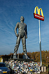 Large, mega-statue of Michael Jackson at the McDonalds restaurant in Best, The Netherlands
