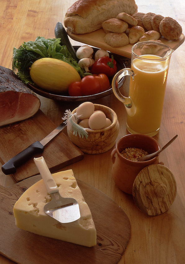 Europe, SWE, Sweden, Bohuslan, Typical Swedisch Breakfast