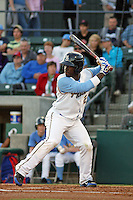 Myrtle Beach Pelicans shortstop Odubel Herrera #24 at bat during a game against the Wilmington Blue Rocks at Tickerreturn.com Field at Pelicans Ballpark on April 7, 2012 in Myrtle Beach, SC. Myrtle Beach defeated Wilmington 2-1. (Robert Gurganus/Four Seam Images)