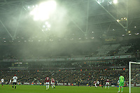 The mist descends  on the London stadium during West Ham United vs Fulham, Premier League Football at The London Stadium on 22nd February 2019