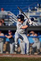 Mahoning Valley Scrappers center fielder Austen Wade (40) at bat during a game against the Batavia Muckdogs on August 16, 2017 at Dwyer Stadium in Batavia, New York.  Batavia defeated Mahoning Valley 10-6.  (Mike Janes/Four Seam Images)