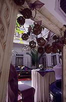 """Afrique/Maghreb/Maroc/Essaouira : Riad """"Casa Lilla"""", détail du patio"""