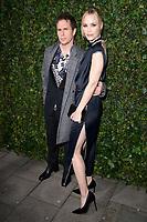 Sam Rockwell and Leslie Bibb<br /> arriving for the 2018 Charles Finch & CHANEL Pre-Bafta party, Mark's Club Mayfair, London<br /> <br /> <br /> ©Ash Knotek  D3380  17/02/2018