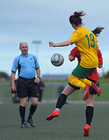 Action from the Capital Women's Premier football match between Brooklyn Northern United and Victoria University at Wakefield Park in Wellington, New Zealand on Sunday, 23 August 2020. Photo: Dave Lintott / lintottphoto.co.nz