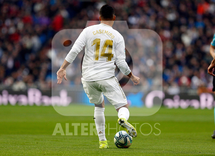 Real Madrid CF's Carlos H. Casemiro   during the Spanish La Liga match round 20 between Real Madrid and Granada CF at Santiago Bernabeu Stadium in Madrid, Spain