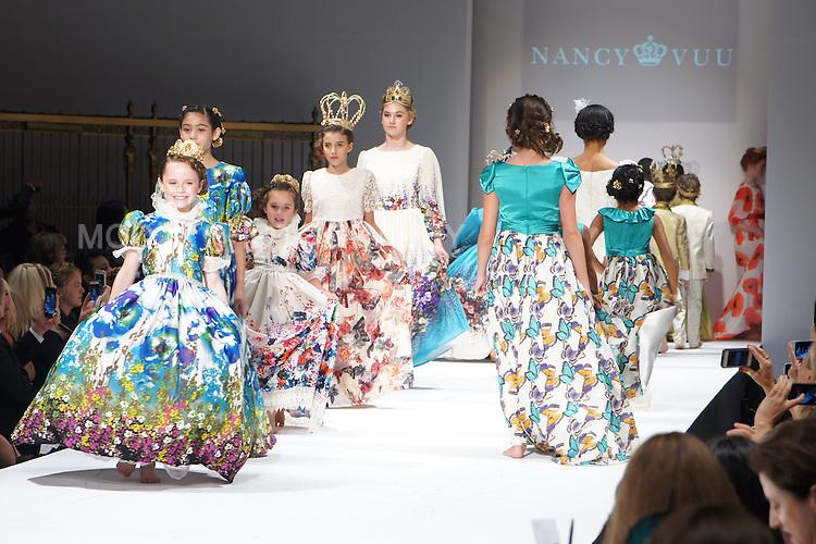 Young models walking down the runway at Nancy Vuu SS 2016 NYFW