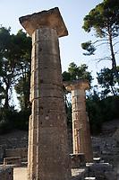 Resti archeologici  Colonne Tempio di Era ,Heraion in ordine Dorico Patrimonio Unesco