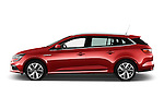 Car Driver side profile view of a 2016 Renault Megane-Grandtour Bose-Edition 5 Door wagon Side View
