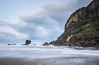 Dawn on beach at Kohaihai near Karamea, West Coast, Buller Region, Kahurangi National Park, New Zealand