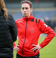 Magaly Osma Guiteras (28 Woluwe) pictured before a female soccer game between FC Femina WS Woluwe and RSC Anderlecht Women on the eight match day of the 2020 - 2021 season of Belgian Women's Super League , Sunday 22nd of November 2020  in Woluwe, Belgium . PHOTO SPORTPIX.BE | SPP | SEVIL OKTEM