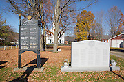 Veterans Memorial in the village of Cornish during the autumn months. Located in the Cornish, New Hampshire USA
