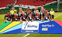 TUNJA-COLOMBIA, 29-01-2020: Jugadores Boyacá Chicó F. C.,  posan para una foto antes de partido entre Patriotas FC y Patriotas Boyacá F. C., de la fecha 2 por la Liga BetPlay DIMAYOR I 2020 en el estadio La Independencia en la ciudad de Tunja. / Players of  Boyacá Chicó F. C., pose for a photo prior a match between Boyacá Chicó F. C. and Patriotas Boyacá F. C., of the 2nd date for the BetPlay DIMAYOR Leguaje I 2020 at La Independencia stadium in Tunja city. / Photo: VizzorImage / Edward Leguizamón / Cont.