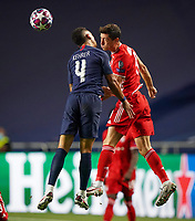 23rd August 2020, Estádio da Luz, Lison, Portugal; UEFA Champions League final, Paris St Germain versus Bayern Munich; Thilo Kehrer (PSG) challenges for the header with Robert Lewandowski (Munich)