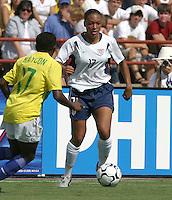 Angela Hucles, USWNT vs Brazil.