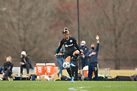LOUISVILLE, KY - MARCH 13: Yuki Nagasato #17 of Racing Louisville FC maneuvers the ball during a game between West Virginia University and Racing Louisville FC at Thurman Hutchins Park on March 13, 2021 in Louisville, Kentucky.