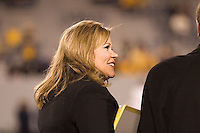 01 December 2007: ESPN sideline reporter Holly Rowe..The Pitt Panthers upset the West Virginia Mountaineers 13-9 on December 01, 2007 in the 100th edition of the Backyard Brawl at Mountaineer Field, Morgantown, West Virginia.