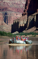River rafting group on the Colorado River in Grand Canyon National Park. Arizona.