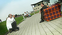 05/08/2004   Copyright Pic: James Stewart.File Name : jspa01_yerbury.PHOTOGRAPHER TREVOR YERBURY EMBARKS ON HIS SCOTLAND'S PEOPLE EXHIBITION AT THE FALKIRK WHEEL WITH HIS TARTAN SOFA AND THE HELP OF THE CANDIDATES FOR THE SNP LEADERSHIP, MIKE RUSSELL, ROSESANA CUNNINGHAM AND ALEX SALMOND......Payments to :.James Stewart Photo Agency 19 Carronlea Drive, Falkirk. FK2 8DN      Vat Reg No. 607 6932 25.Office     : +44 (0)1324 570906     .Mobile  : +44 (0)7721 416997.Fax         :  +44 (0)1324 570906.E-mail  :  jim@jspa.co.uk.If you require further information then contact Jim Stewart on any of the numbers above.........