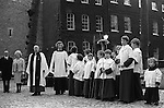 Beating the Bounds. The Tower Liberty,London, England. 1975 Ascension Day. Within the grounds of the Tower of London   My ref 36a/972/1975