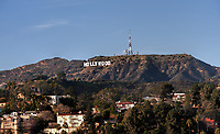A view of the Hollywood sign in California.