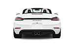 Straight rear view of 2019 Porsche 718-Boxster S 2 Door Convertible Rear View  stock images