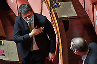 The secretary of Italia Viva Mattei Renzi during the Italian Premier's  information at the Senate about the government crisis..<br /> Rome(Italy), January 19th 2021<br /> Photo Pool Alessandro Di Meo/Insidefoto