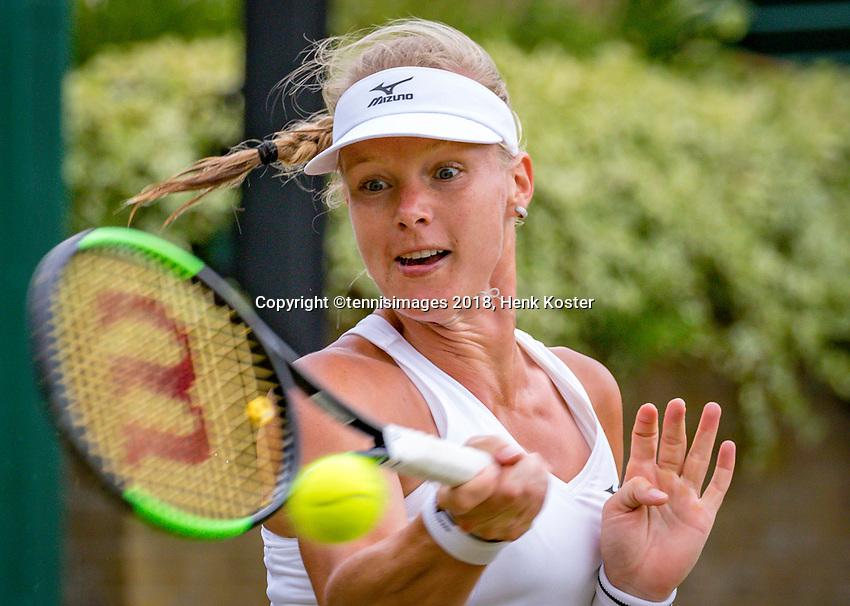 London, England, 4 th. July, 2018, Tennis,  Wimbledon, Womans singles second round, Kiki Bertens (NED)<br /> Photo: Henk Koster/tennisimages.com