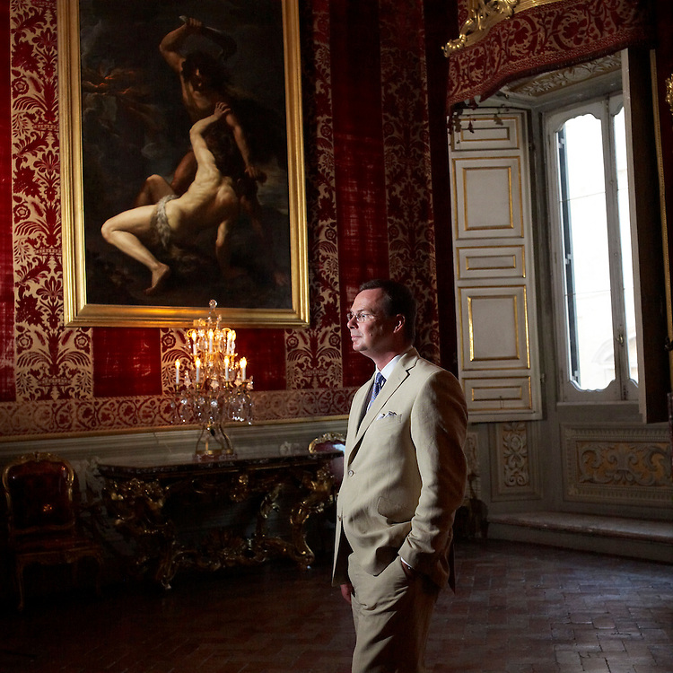 © John Angerson -Prince Doria at his family home at Palazzo Doria Pamphilij, Rome Italy.