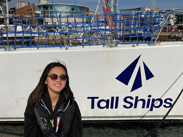 Zoë d'Ornano - The youngest crew member in the race is raising funds for the Tall Ships Youth Trust is sailing on Challenger 2 © Lay Koon