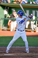 Mitchell Hansen (43) of the Ogden Raptors at bat against the Grand Junction Rockies in Pioneer League action at Lindquist Field on June 20, 2016 in Ogden, Utah. The Rockies defeated the Raptors 5-2. (Stephen Smith/Four Seam Images)