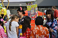 Fetes Gourmandes 2011, au Musee Pointe-a-Calliere.<br /> <br /> Montreal (Qc) CANADA - August 13, 2011 - A nice sized crowd showed up again this year for the Matsuri, free outdoor festival of Japanses culture, martial arts and food.