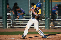 Michael Fernandez Jr. (6) of Bellevue High School in Bellevue, Washington during the Baseball Factory All-America Pre-Season Tournament, powered by Under Armour, on January 13, 2018 at Sloan Park Complex in Mesa, Arizona.  (Art Foxall/Four Seam Images)