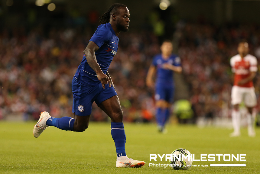 Victor Moses of Chelsea during the International Champions Cup Game between Arsenal and Chelsea at the Aviva Stadium, Dublin. Photo By Michael P Ryan.