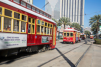 New Orleans, Louisiana.  Canal Street Trolley.