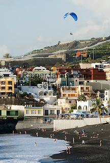Spain, Canary Islands, La Palma, Puerto Naos: popular resort at the west coast with beach Playa de Puerto Naos