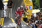 Tejay Van Garderen (USA) BMC Racing Team powers down the start ramp of the Prologue of the 99th edition of the Tour de France 2012, a 6.4km individual time trial starting in Parc d'Avroy, Liege, Belgium. 30th June 2012.<br /> (Photo by Eoin Clarke/NEWSFILE)