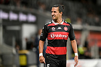 10th February 2021; Bankwest Stadium, Parramatta, New South Wales, Australia; A League Football, Western Sydney Wanderers versus Melbourne Victory; Daniel Georgievski of Western Sydney Wanderers reacts after giving away a foul