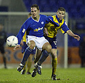 20/12/03          Copyright Pic : James Stewart.File Name : stewart15-stjohn_v_qos.PAUL BERNARD AND BRIAN MCCOLLIGAN CHALLENGE FOR THE BALL......Payment should be made to :-.James Stewart Photo Agency, 19 Carronlea Drive, Falkirk. FK2 8DN      Vat Reg No. 607 6932 25.Office     : +44 (0)1324 570906     .Mobile  : +44 (0)7721 416997.Fax         :  +44 (0)1324 570906.E-mail  :  jim@jspa.co.uk.If you require further information then contact Jim Stewart on any of the numbers above.........