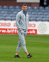 25th September 2021; Dens Park, Dundee, Scotland: Scottish Premiership football, Dundee versus Rangers; John Lundstram of Rangers inspects the pitch before the match