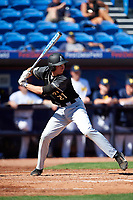 Army West Point first baseman John McKenna (21) at bat during a game against the Michigan Wolverines on February 18, 2018 at First Data Field in St. Lucie, Florida.  Michigan defeated Army 7-3.  (Mike Janes/Four Seam Images)