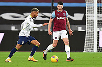 Declan Rice of West Ham United during West Ham United vs Aston Villa, Premier League Football at The London Stadium on 30th November 2020