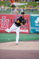 Taylor Cole (11) of the Salt Lake Bees throws in the bullpen against the New Orleans Baby Cakes at Smith's Ballpark on June 8, 2018 in Salt Lake City, Utah. Salt Lake defeated New Orleans 4-0.  (Stephen Smith/Four Seam Images)