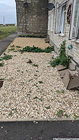 BNPS.co.uk (01202 558833)<br /> Pic: EmmaCollins/BNPS<br /> <br /> Pictured: The memorial garden Emma created has now been cleared.  <br /> <br /> A grieving mother who built a memorial garden in tribute to her late son has spoken of her devastation after she was made to remove it by a housing association. <br /> <br /> Emma Collins made the garden on a small patch of land outside her ground floor flat in memory of her 16 year old son Daniel who died in a quad biking accident. <br /> <br /> The 14ft  by 6ft space was filled with flowers, gnomes, lights, and a picture of Daniel but is now an empty, weed-infested gravel bed.