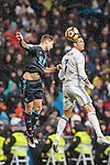 Cristiano Ronaldo (r) of Real Madrid battles for the ball with Inigo Martinez Berridi of Real Sociedad during their La Liga match between Real Madrid and Real Sociedad at the Santiago Bernabeu Stadium on 29 January 2017 in Madrid, Spain. Photo by Diego Gonzalez Souto / Power Sport Images