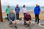 Getting ready to hit the water in Fenit on Saturday. Kneeling John Fox and Gerard McDonnell. Back l to r: Valerie Ryan, Mairead Fox, Maura Hayes and Frank Ryan.
