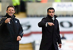Coca-Cola Football League Championship - Swansea City v Cardiff City @ The Liberty Stadium in Swansea..Swansea City Manager Roberto Martinez (right) alongside his Assistant Manager Graeme Jones...