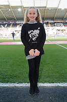 Child mascot the Premier League game between Swansea City v Chelsea at the Liberty Stadium, Swansea, Wales, UK. Saturday 28 April 2018