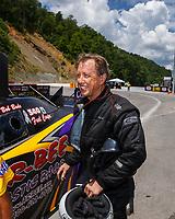 Jun 17, 2017; Bristol, TN, USA; NHRA funny car driver Bob Bode during qualifying for the Thunder Valley Nationals at Bristol Dragway. Mandatory Credit: Mark J. Rebilas-USA TODAY Sports