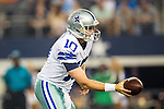 Dallas Cowboys quarterback Dustin Vaughan (10) in action during the pre-season game between the Denver Broncos and the Dallas Cowboys at the AT & T stadium in Arlington, Texas. Denver leads Dallas 10 to 3 at halftime.